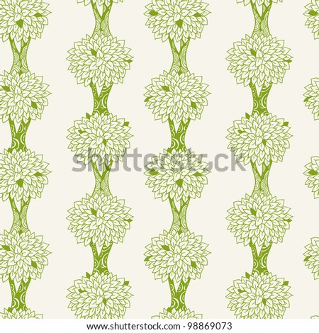 decorative seamless tree pattern