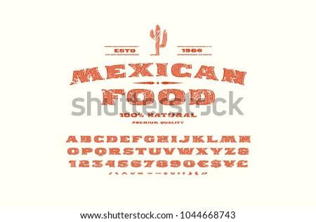 decorative serif font in retro...