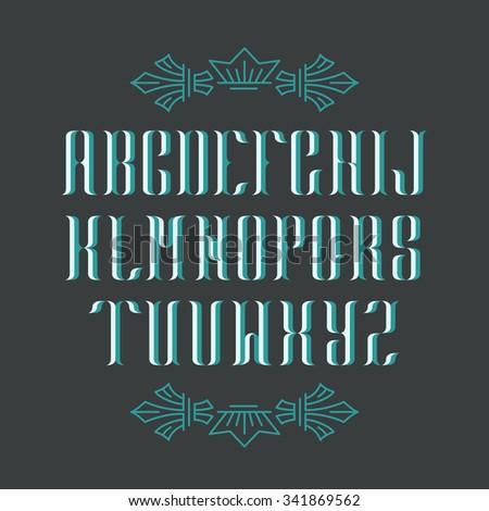 decorative serif latin font....