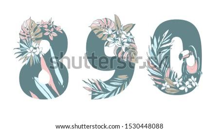 decorative set floral tropical