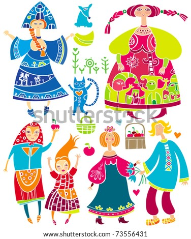 decorative set of slavonic