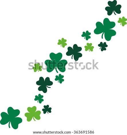 Decorative shamrocks diagonal St. Patrick's Day