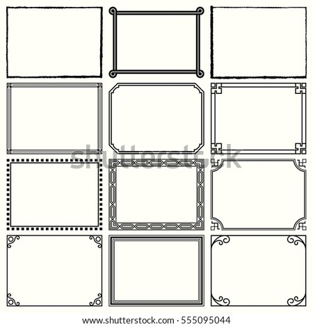 Decorative simple frames (set 11)