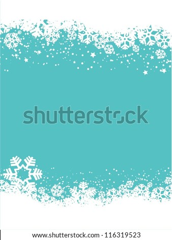 Decorative snowflake background