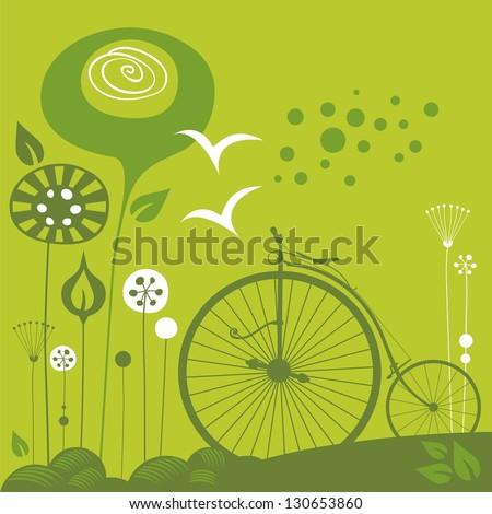 decorative spring illustration