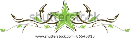 Decorative star, abstract star