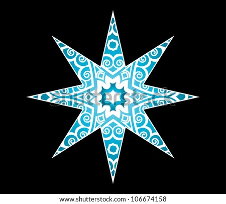 decorative star (release clip mask for full design)