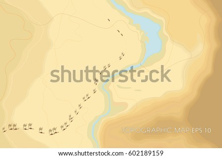 decorative stylized desert