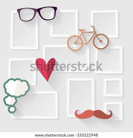 decorative template frame