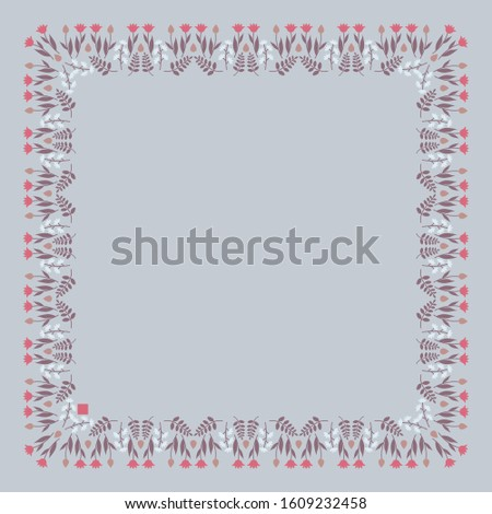decorative template with square