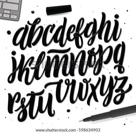 Decorative Vector ABC Letters.