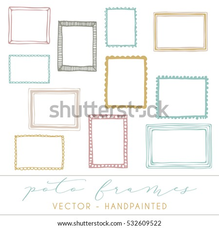 decorative vector frames  photo