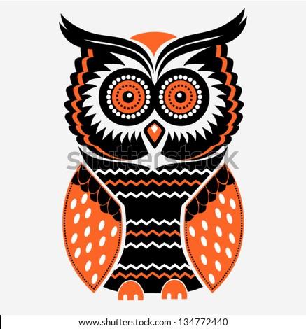 decorative vector owl