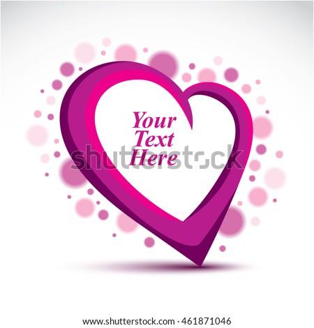 decorative vector purple love