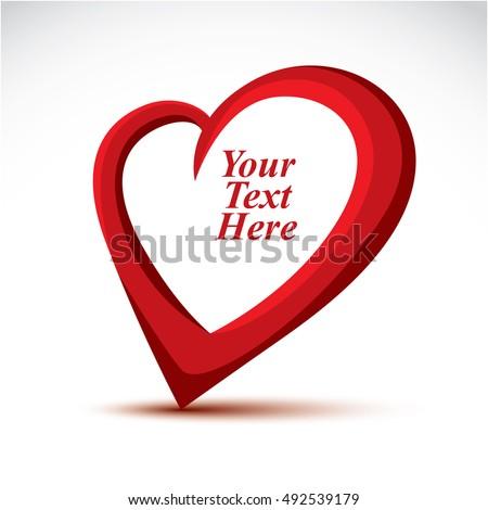 decorative vector red love