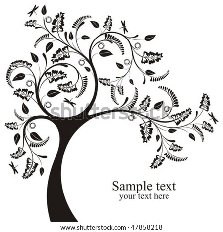 Decorative vector tree