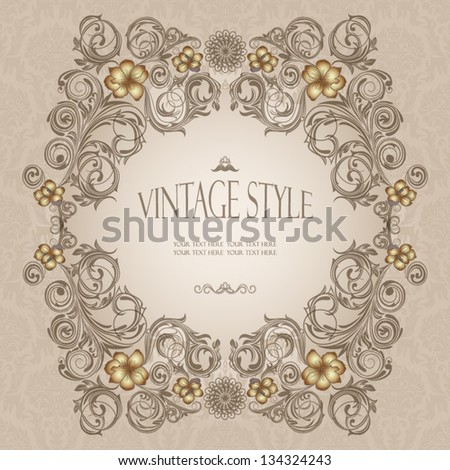 Decorative vintage frame #134324243