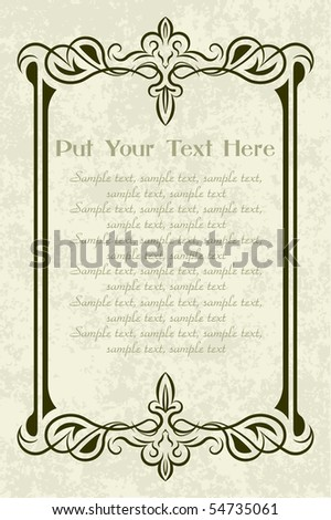Decorative vintage frame. - stock vector