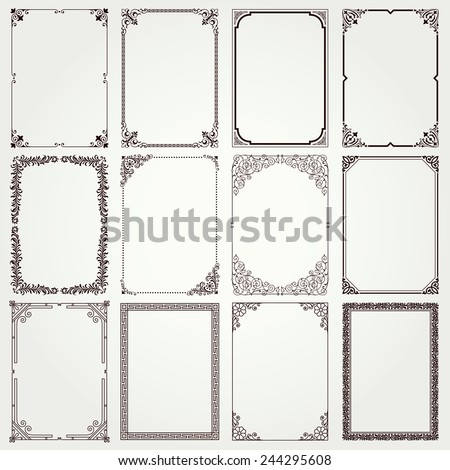 decorative vintage frames and...