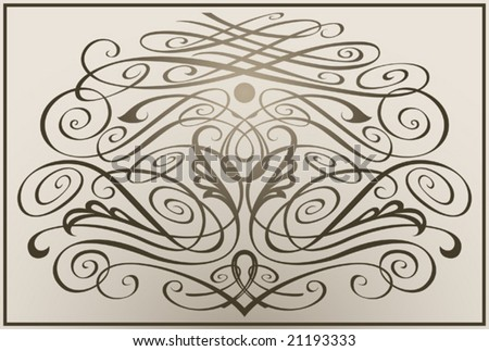 Decorative vintage monogramThis image is a vector illustration and can be scaled to any size without loss of resolution.