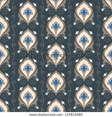 Decorative vintage ornament seamless pattern