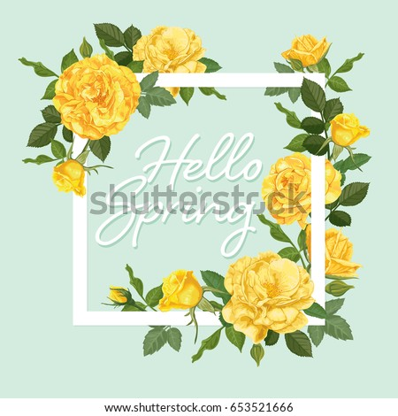 decorative vintage yellow roses