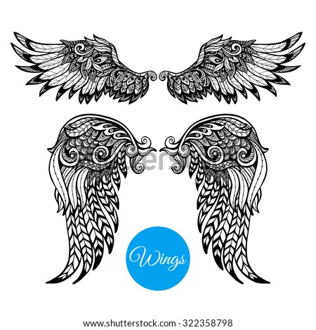 decorative wings set with hand