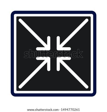 decrease illustration tool icon. flat illustration of decrease illustration tool - vector icon. decrease illustration tool sign symbol