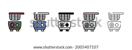 deep fryer vector type icon Stockfoto ©