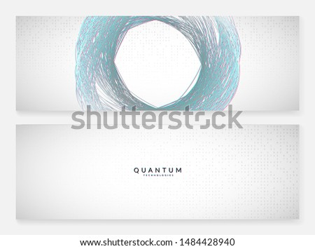 Deep learning concept. Digital technology abstract background. Artificial intelligence and big data. Tech visual for communication template. Geometric deep learning backdrop.