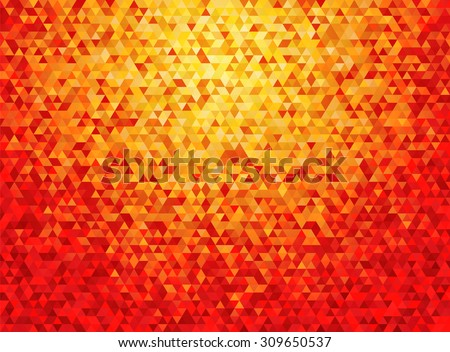 deep orange triangular