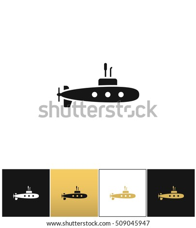 deep water submarine vector