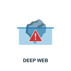 Deep Web flat icon. Colored sign from dark web collection. Creative Deep Web icon illustration for web design, infographics and more