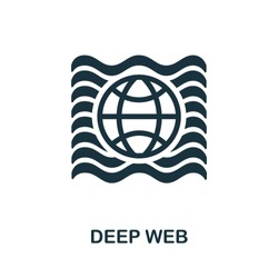 Deep Web icon from banned internet collection. Simple line Deep Web icon for templates, web design and infographics