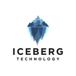 Deep web logo iceberg for modern business technology