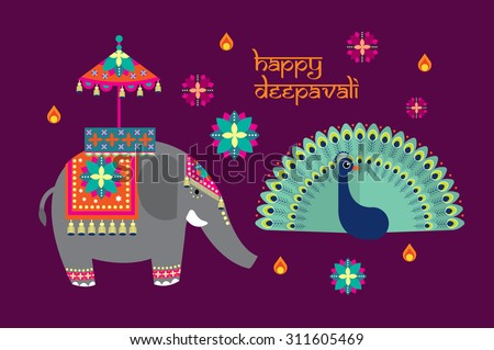 deepavali/diwali elements vector/illustration