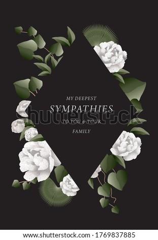 deepest sympathy message design template vector/illustration Foto stock ©