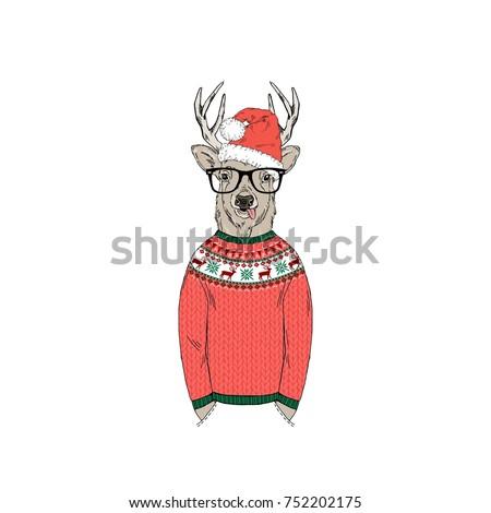 deer dressed up in funny