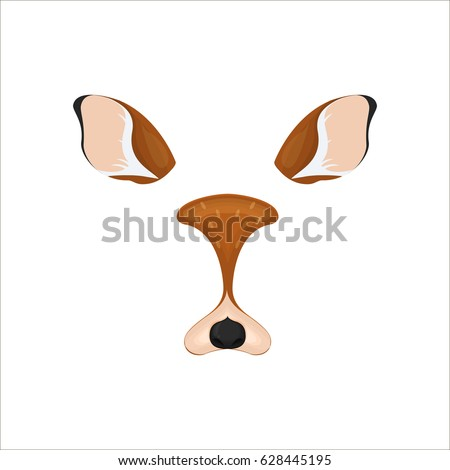 deer face elements vector