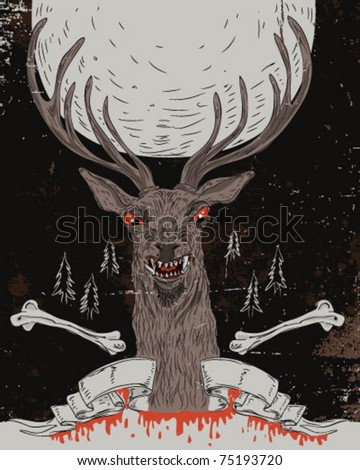 Deer - hand draw