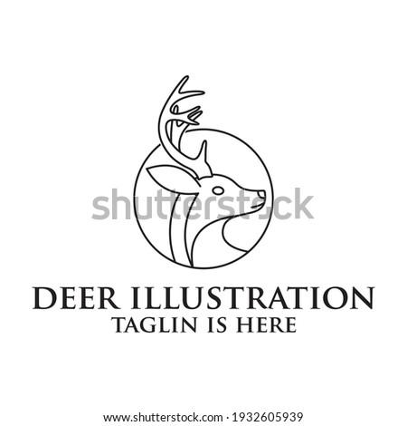 Deer head creative design logo vector. Deer illustration, Abstract Deer Head Logo Design. Vector illustration. Stylized geometric shape deer logotype.
