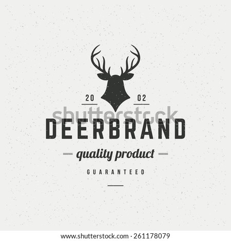 deer head design element in
