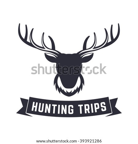 Royalty Free Hunting Club Logo Template Deer Head 370687613 Stock