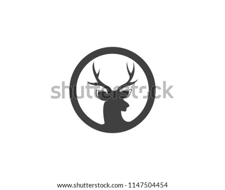Deer Head Icon Logo Design Vector Illustration