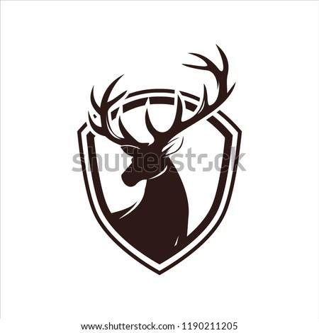 deer head illustration - hunt deer illustration - deer icon