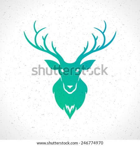deer head silhouette isolated