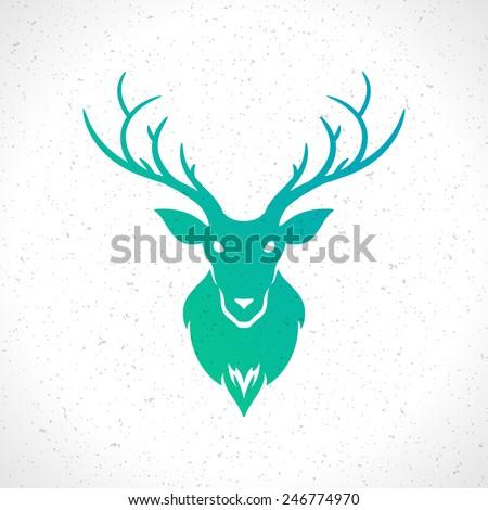 deer head silhouette isolated