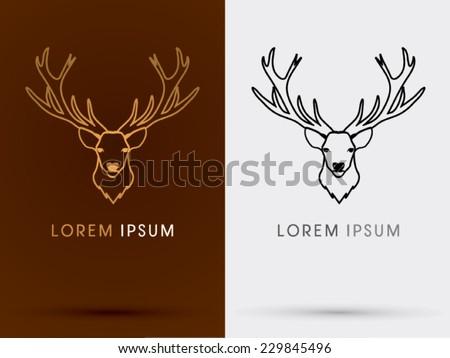 Deer Head Symbol Logovector