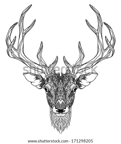 Stock Vector Deer Head Tattoo Psychedelic further Deer Family Silhouette ChI42Q6Dg1l WyKr EMOMG2yglOEYeDVPMayGuJ 4 likewise No Fish besides Horses in addition Framework Hunting Theme 10736923. on deer head vector