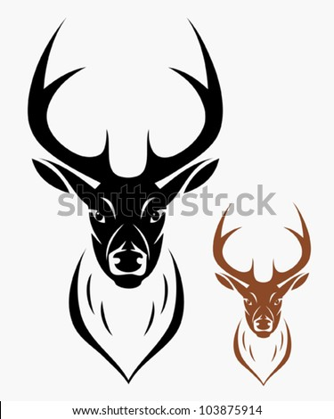 Deer head - vector illustration